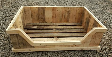 dog bed made out of pallets dog bed from an old pallet dog fun pinterest pet