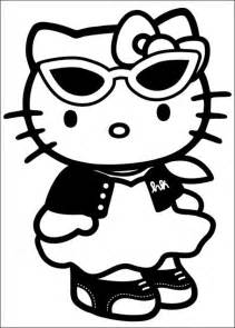kitty wearing glasses coloring pages kids fp4 printable kitty coloring pages