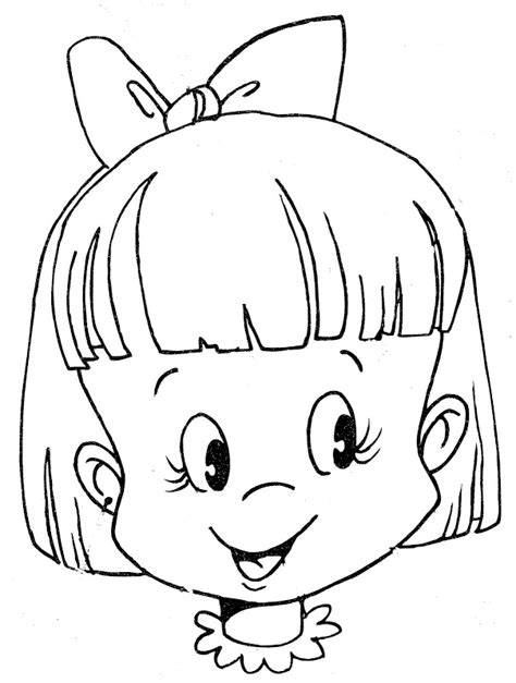 coloring pages of children s faces coloring page az coloring pages