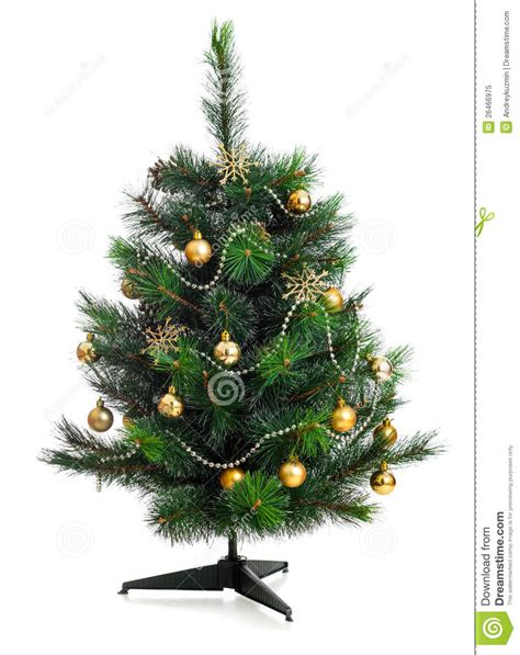 small decorated trees small decorated tree isolated stock image