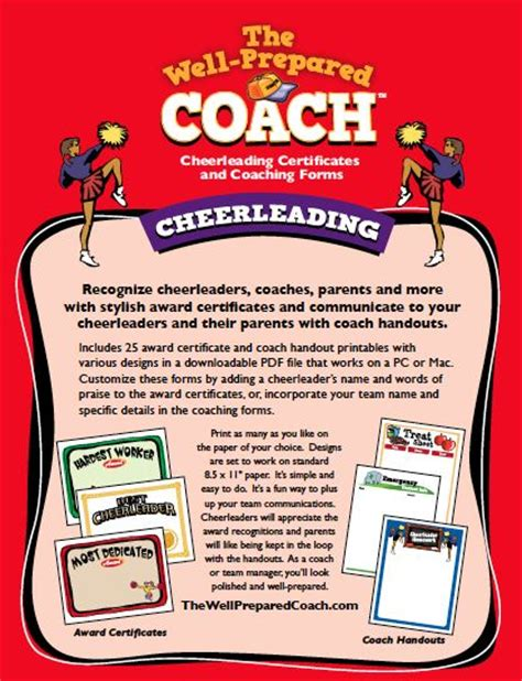 Closing Letter With Cheers Cheerleading Award Templates Certificate Maker Custom Cheer Leading