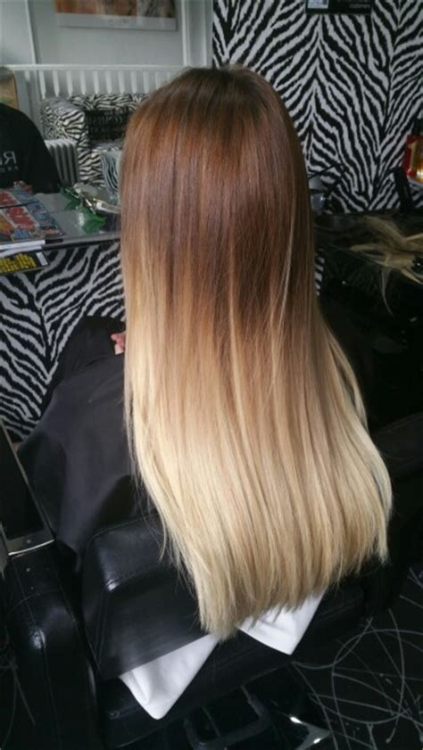 dyed blonde hairstyles flawless roots dip dye hair brown to blonde and perfectly