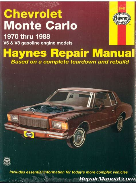 1970 1988 haynes chevrolet monte carlo repair manual 38345006265 ebay 1970 1988 chevrolet monte carlo automobile repair manual haynes