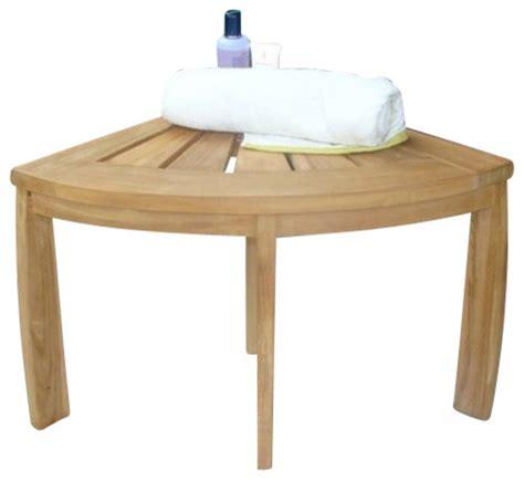 Wood Shower Stool by Stool Teak Corner Stool All Teak Wood