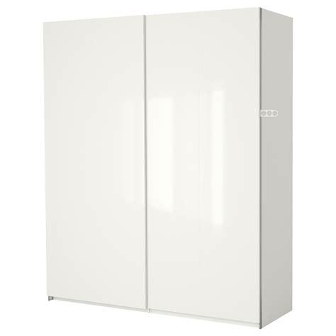 High Gloss White Wardrobes by Pax Wardrobe White Hasvik High Gloss White 200x66x201 Cm Ikea
