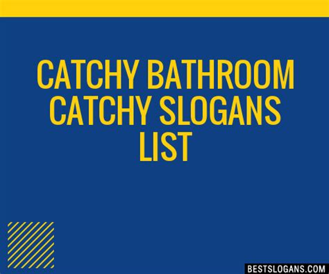 bathroom slogans 30 catchy bathroom slogans list taglines phrases