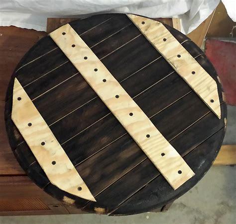 Barrel Top whiskey barrel top end tables hearts sharts