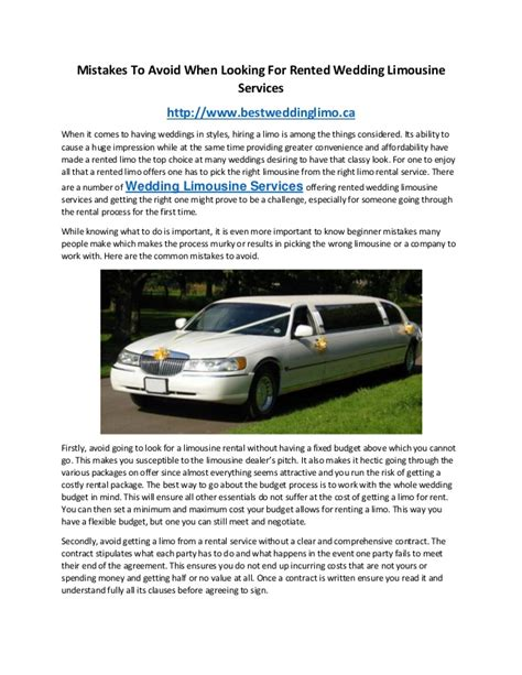 Limousine Rental For Wedding by Wedding Limousine Services Wedding Limousine Rentals