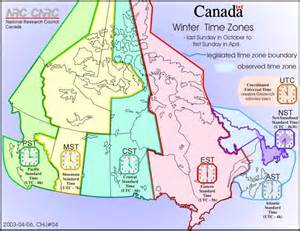arrogburo map of time zones in canada