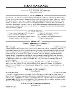 biotechnology resume exles science resumes livecareer