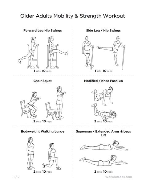 Printable Exercise Routines For Seniors