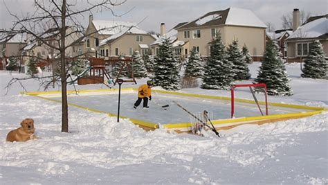 backyard hockey rink kits nicerink 46 x60 backyard hockey ice rink kit