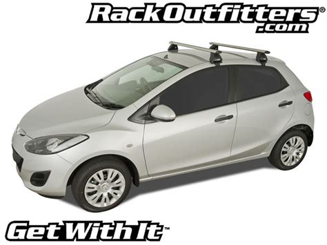 Roof Rack Mazda 2 by Mazda Mazda2 Rhino Rack 2500 Aero Silver Base Roof Rack
