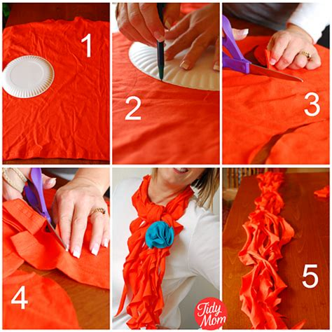How To Make A T Shirt Out Of Paper - t shirt scarf tutorial no sew tidymom