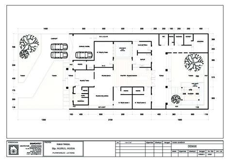 layout perkantoran modern desain villa bali 1 lantai i teras rumah taman kolam