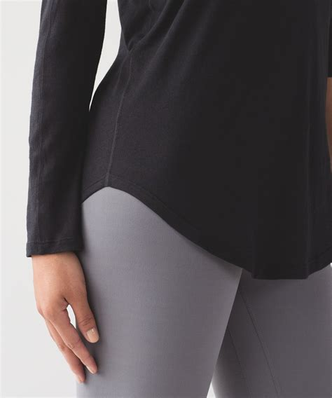 lululemon locarno long sleeve black lulu fanatics