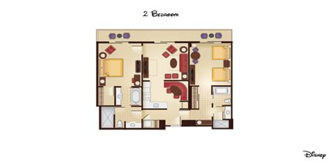 grand floridian 2 bedroom villa floor plan the villas at grand floridian resort spa