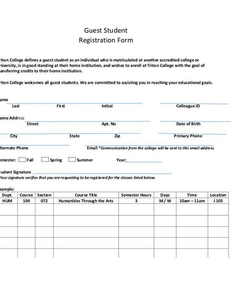 sle registration form template guest registration form template 28 images 9 sle hotel