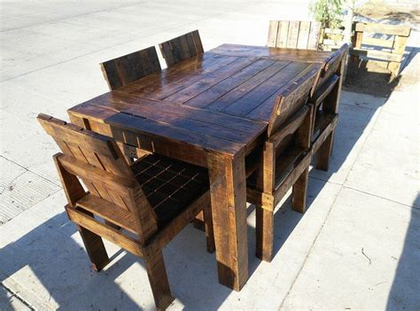 Dining Table Made From Pallets Wooden Pallet Dining Table And Chairs Set 99 Pallets