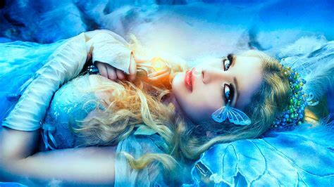 wallpaper blue girl fantasy girl full hd wallpaper and hintergrund 2133x1200