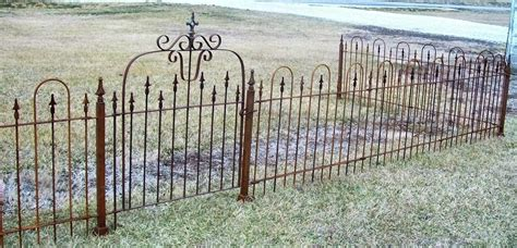 wrought iron fence panels  foot tall  metal stakes