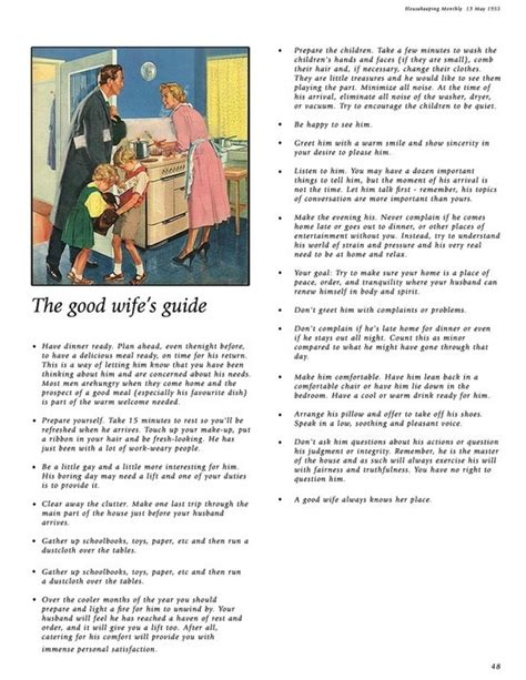good housewife guide this is a must read the good wife s guide good