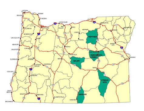 map of oregon units oregon elk population map afputra