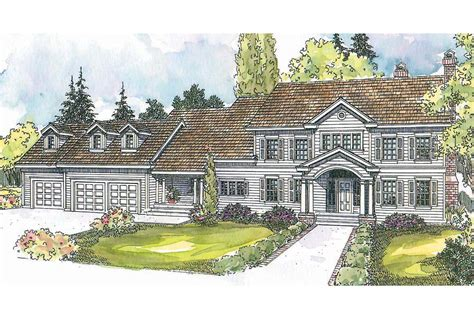 Colonial House Design Colonial House Plans Princeton 30 497 Associated Designs