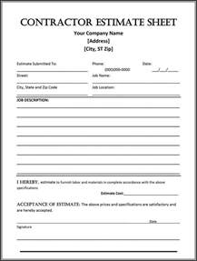 Cleaning Estimate Template Free by 44 Free Estimate Template Forms Construction Repair