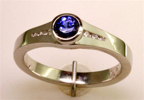 benitoite engagement ring benitoite ring mardon jewelers blog custom jewelry and