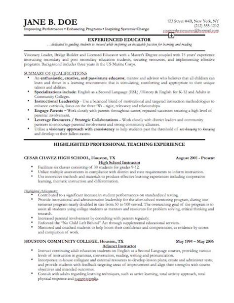Resume Templates For Business Professionals Professional Resume Templates Cv Template Resume Exles