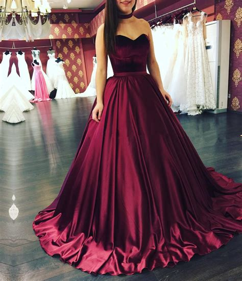 Gowns For Weddings by Burgundy Gowns Burgundy Wedding Dresses Sweetheart