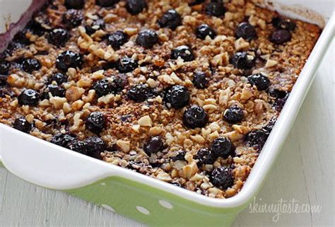 whole grains keep you longer baked oatmeal oatmeal and blueberries on