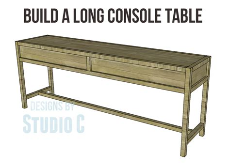 making a sofa table long console table plans