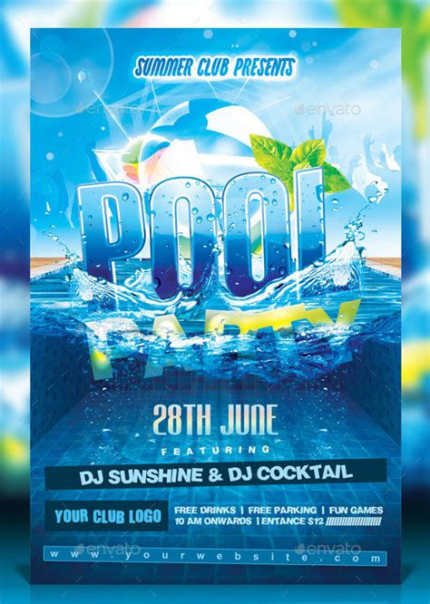 free pool flyer templates pool invitation template 31 free psd format
