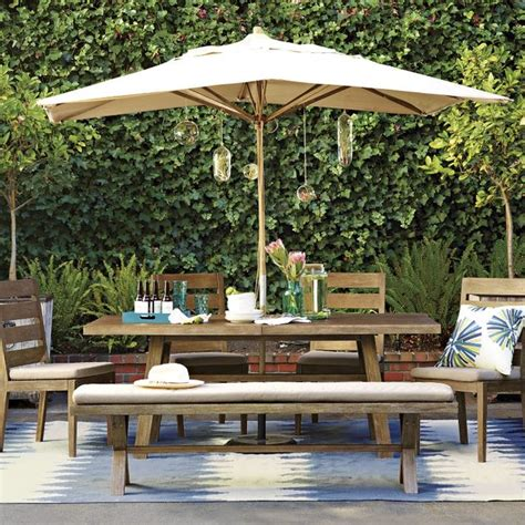 West Elm Patio Jardine Dining Collection Contemporary Patio Furniture And