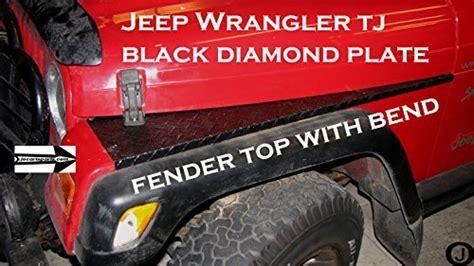 Jeep TJ Black Coated Diamond Plate Full Top Fender Cover