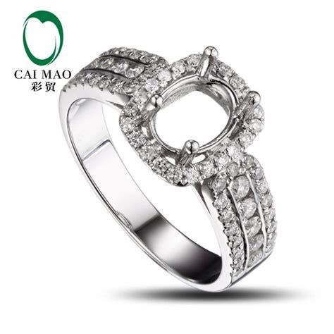 caimao oval cut semi mount ring settings 0 62ct