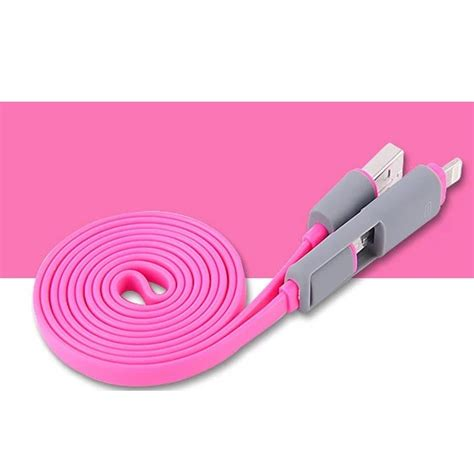 2 In 1 Duo Magic Cable Lightning And Micro Usb Cable Fo Berkualitas 1 kabel usb duo 2 in 1 lightning micro usb split back model magenta jakartanotebook