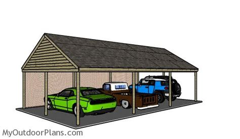 3 Car Carport Plans by 3 Car Carport Plans Myoutdoorplans Free Woodworking