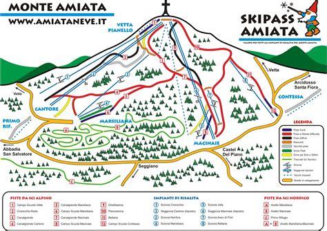 consel sella monte amiata plan des pistes de ski monte amiata
