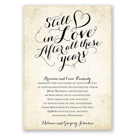 Still In Love Anniversary Invitation   Invitations By Dawn