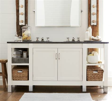 napa sink console with limestone traditional