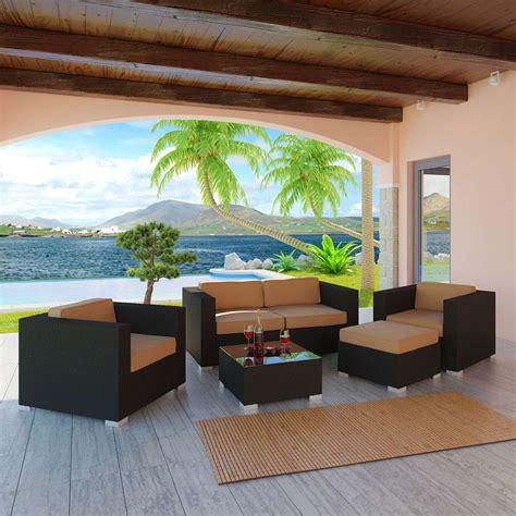 modway malibu 5 piece outdoor patio sofa set free shipping