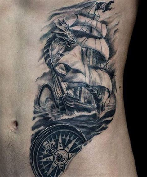 tattoo along ribs rib cage side small ship tattoo for guys tattoos good