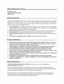 Exles Of Nursing Resume by Sle Resumes Resume Or Nursing Resume
