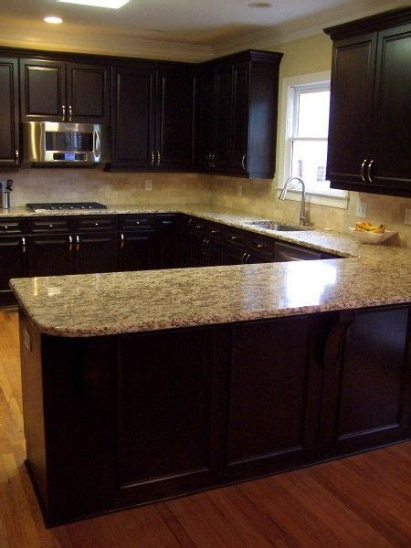 dark kitchen cabinets with dark countertops dark and light kitchen love the color combo of cabinet