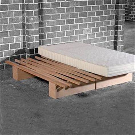futon holzbett tojo v bed vario 90 180cm accordion organic bed v guest