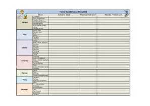 home repair checklist template 5 best images of home maintenance checklist printable