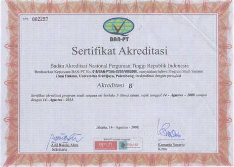 Surat Akreditasi Ban Pt by Contoh Surat Akreditasi Program Studi Buku 3a Akreditasi